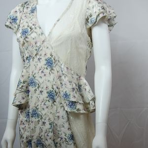Topshop Floral Lace Dress w/Slip Size 6 NWT